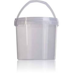 Seau transparent à miel 3,8 l. Emballage
