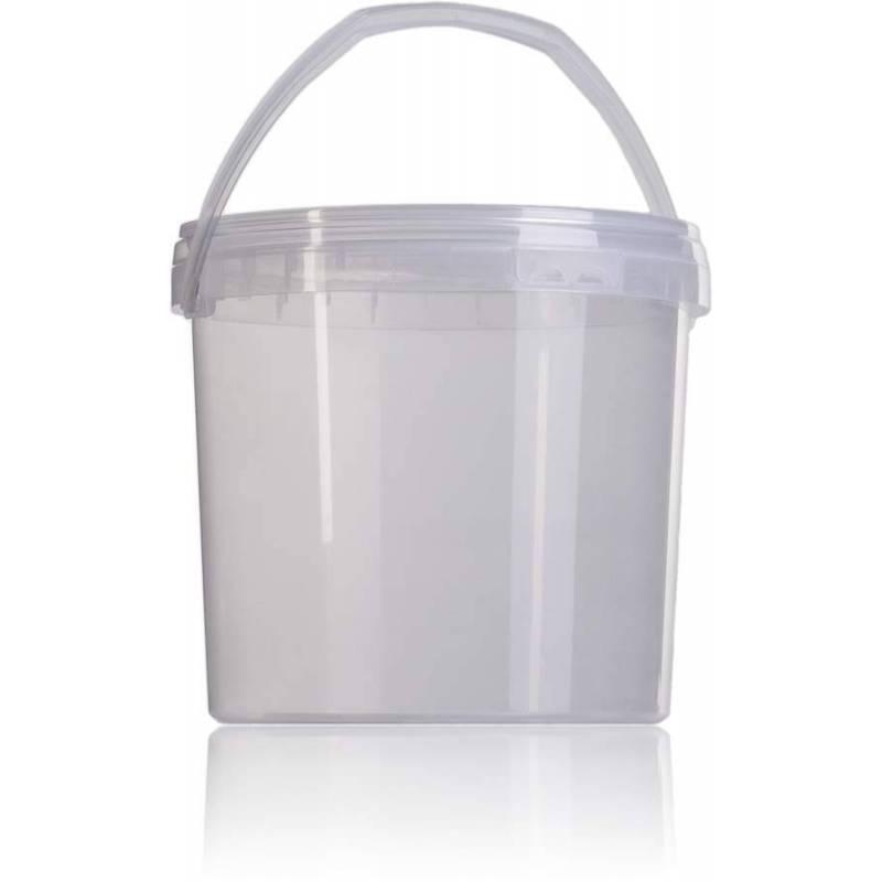Seau transparent à miel 3,8 l. Emballage