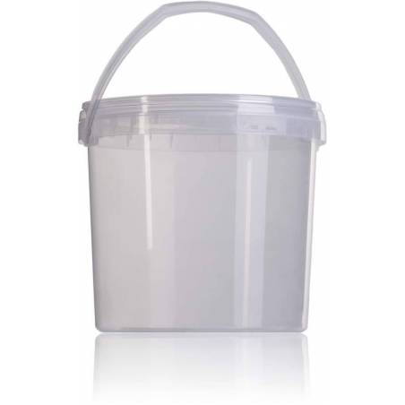 Cubo para miel transparente 3,8 l. ENVASES