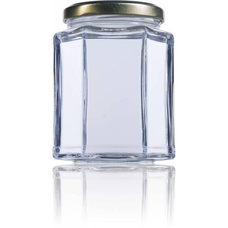 Pot de miel hexagonal 390ml Emballage
