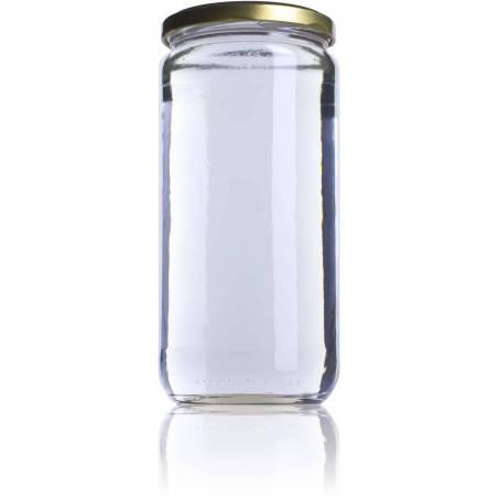 Pot de miel 1kg lisse V720 Pots en verre