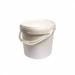 Cubo de plástico blanco 10...