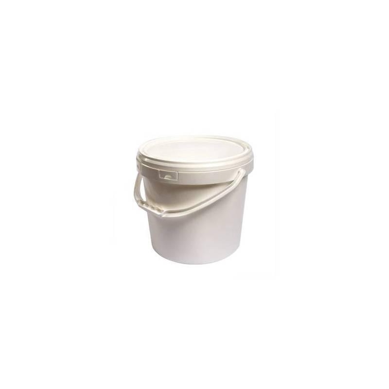 Cubo de plástico blanco 10 litros ENVASES