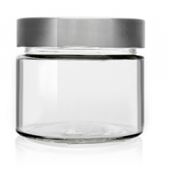 Glass Jar High Mouth 212ml Honey Crystal Jars