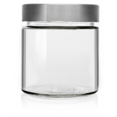 High Mouth Crystal Jar 410ml Honey Crystal Jars