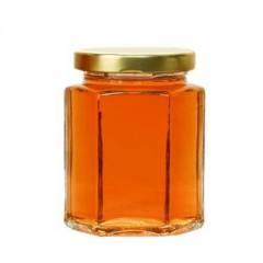 Hexagonal glass jar 390ml HONEY PACKAGING
