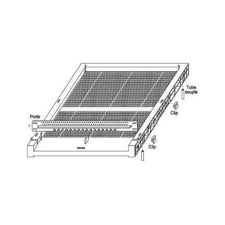 Plastic bottom board ventilated NICOT Plastic beehives and frames
