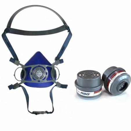 Media máscara + Dos filtros Accesorios desinfección e higiene