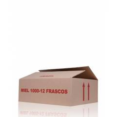 Caja de cartón 12 frascos miel 1kg HONEY PACKAGING