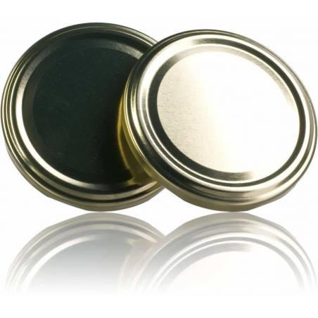 Couvercle TO 77mm doré pasteurisable Emballage