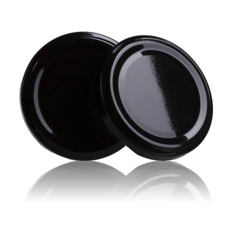 Couvercle TO 66mm noir pasteurisable Couvercles