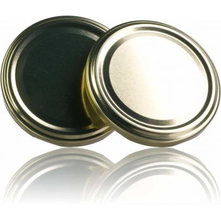 Tapa TO 82mm dorada pasteurizable Tapas y cierres