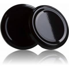 Couvercle TO 53mm noir pasteurisable Couvercles