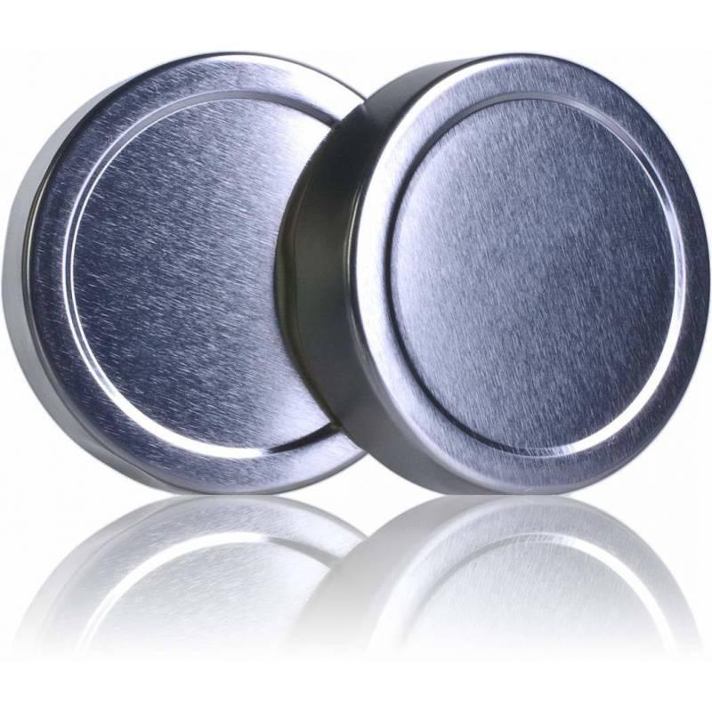 Tapa TO 82mm ALTA plateada pasteurizable Tapas y cierres