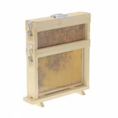 La ruche d'observation de Dadant avec une demi-hauteur Les Ruches Dadant