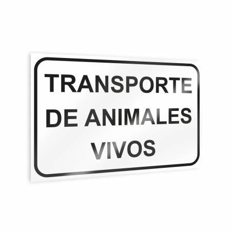 """Autocollant """"Transport d'animaux vivants Panneaux d'avertissement"""