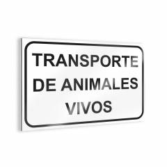 "Sign ""Transporte de animales vivos"" Bee signs"