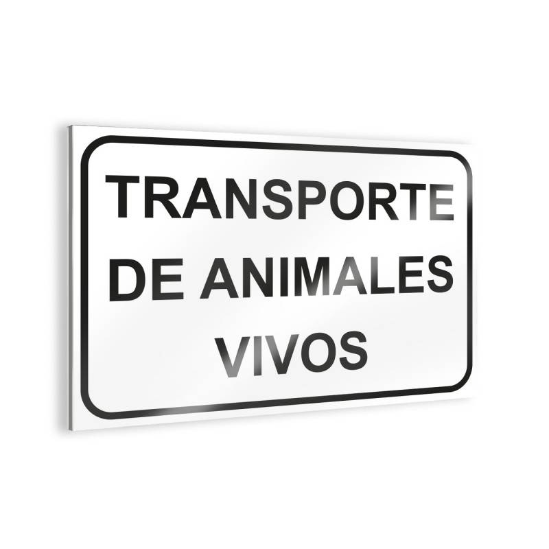 """Affiche """"Transport d'animaux vivants Panneaux d'avertissement"""