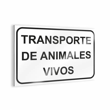 """Sign """"Transporte de animales vivos"""" Bee signs"""