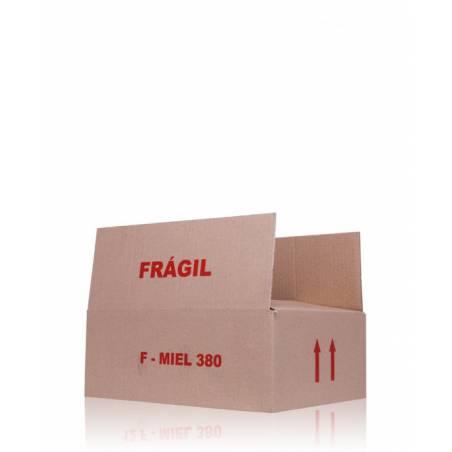 Caja de cartón 6 frascos medio kilo Embalajes