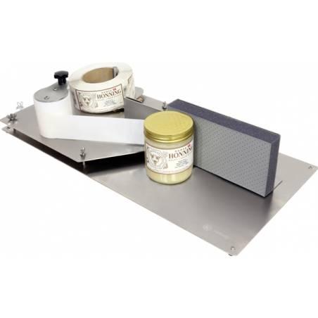 Manual label dispenser Swienty Honey filling machines