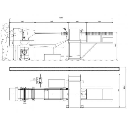 Chaîne d'extraction du miel LEGA COMBI-LINE 52 Lignes d'extraction