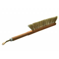 Double row hair brush with tool Bee Brushes