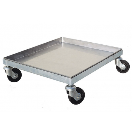 Trolley for supers with tray Transport of beehives and drums