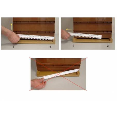 Base de colmenas NICOT ventilación total Colmenas y cuadros de Plástico
