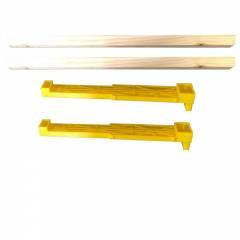 Cuadro Langstroth híbrido con laterales de plástico Colmenas y cuadros de Plástico