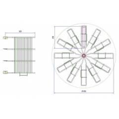 Extractor KIWI® radial con jaulas 12c Lang Extracteurs Radiaires