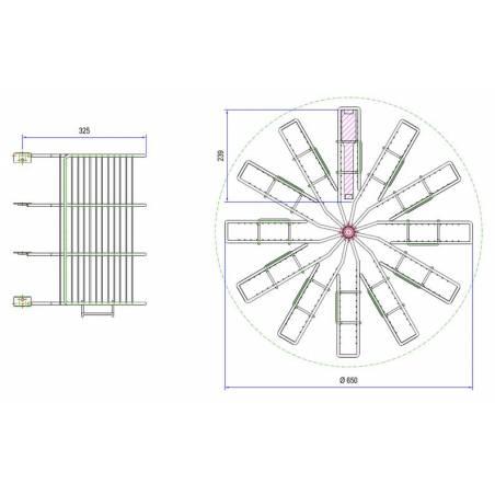 Extractor KIWI® radial con jaulas 12c Lang Extractores Radiales