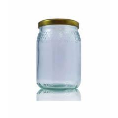 Frasco de vidrio miel 212ml celdillas Tarros de cristal para miel