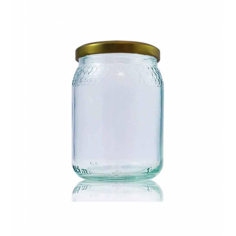 Classic honey jar 105ml combs Honey Crystal Jars