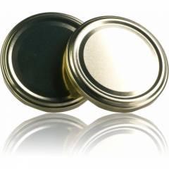 Couvercle TO 48 Doré Pasteurisation sans bouton Couvercles
