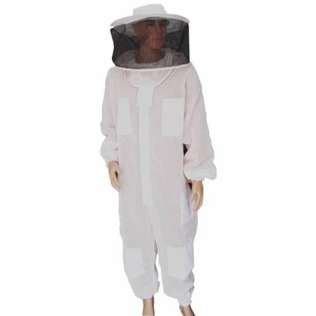 Buzo ultraventilado con careta redonda Trajes de apicultor