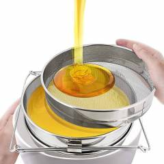 Stainless steel Double Sieve Honey Strainers