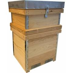 10F Layens beehive with super and frames Layens Beehives