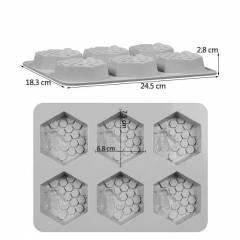 Molde 6 jabones hexagonales Velas y moldes