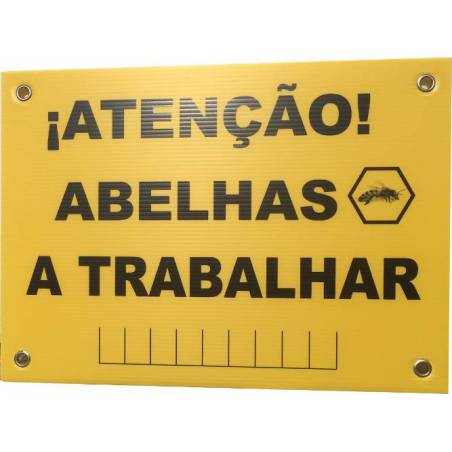 Bees sign in Portuguese BEE EQUIPMENT