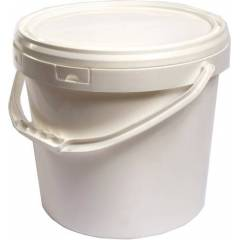 Cubo de plástico blanco 18...