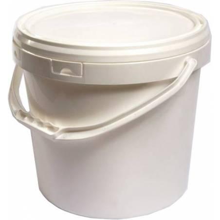 Seau en plastique blanc 18 litres Emballage
