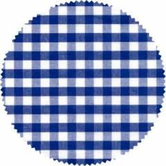 Pack 20 dessus de couvercles en tissu VICHY bleu Découragement