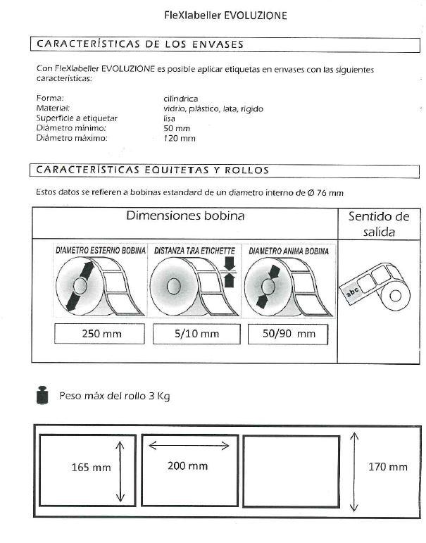 bobinas para flex labeller